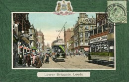 POST CARD ENGLAND YORKSHIRE LOWER BRIGGATE LEEDS 1909 - Leeds