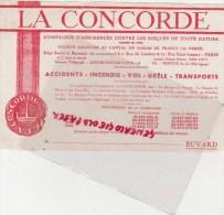 75 - PARIS - BUVARD LA CONCORDE - ASSURANCES - RUE DE LONDRES ET RUE SAINT LAZARE - Banque & Assurance