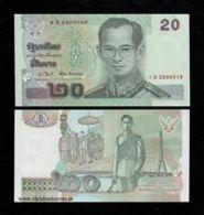 Thailand 20 Baht 2003 Pick 109 Sign82 UNC - Tailandia