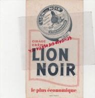 BUVARD CIRAGE LION NOIR - - Buvards, Protège-cahiers Illustrés
