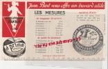 59 - ROUBAIX - BUVARD JEAN BART - CIRAGE DE LUXE A PRIME- CHAUSSURES - LES MESURES - C