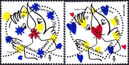 France N°4924 & 4925 ** Saint Valentin - Les Coeusr De Jean-Charles De Castelbajac Au Tarif Vert 20 Et 50 Grammes - Nuevos