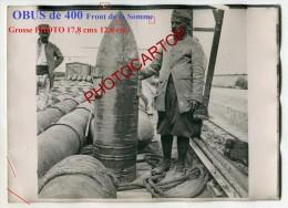 OBUS De 400-Parc A Munitions-PHOTO Francaise-Guerre 14-18-1 WK-France-80-Militaria- - War 1914-18