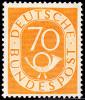 Bund - Posthorn 70 Pfg. Mi-Nr. 136 ** - postfrisch - gepr�ft Schlegel - Mi 500,-