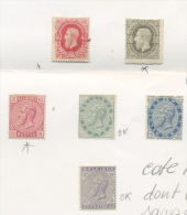 Leopold II BELGIQUE  34 (*) 35*  38*  39(*)  40 (*)  41 (*)  Cote 1900 Euros Dont 690 Sans Défaut Et Sans Colle - 1883 Leopold II