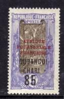 Oubangui N° 68 X  85 Sur 1 F. Violet Et Brun, Trace De Charnière Sinon TB