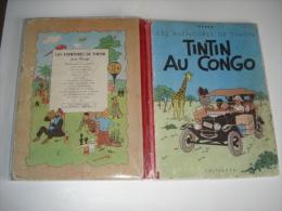 """Bd Originale """" Tintin Au Congo """" 1947..livre En Bon Etat General Voir Scans Et Details - Tintin"""