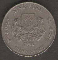 SINGAPORE 20 CENTS 1991 - Singapore