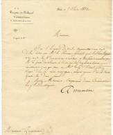 Paris, 1832, 2 Docs, Parquet Du Tribunal, Dispense, Hely D´Oissel ,Demortier, Procureur Du Roi,Zanziacomi,juge - Documents Historiques