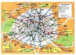 Ancien Plan PARIS Métro RER Année 80 Futures Lignes RER B Et C En 85 RER A3 Editions Grafocarte - Stations, Underground