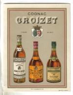 CARTON  FORMAT CPSM PUBLICITE ALCOOL - Cognac CROIZET - Publicité