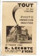 CPSM PUBLICITE PHOTO IMPRESSION INDUSTRIE - Portraits D'Art Robert LECONTE 11 Bd Jules Guesde Saint Denis - Publicité
