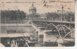 Paris L'institut Et Le Pont Des Arts - Autres Monuments, édifices