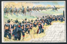 1901 Germany 'Actung Kavallerie' Zimmer Postcard - Patriotic