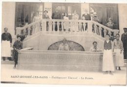 SAINT-HONORE LES BAINS La Buvette De L´établissement Thermal  écrite TB Belle Vue Animée - Saint-Honoré-les-Bains