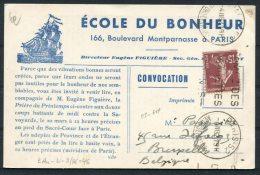 1932 France Ecole Du Bonheur Sailing Ship Paris La Priere Du Printemps Advertising Postcard - Belgium