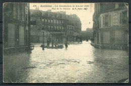 1911 France Asnieres Les Inodations 1910 Rue De La Station Flood Postcard - Hotel Rydeberg, Stockholm, Sweden - Covers & Documents
