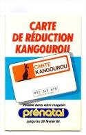 Carte Réduction KANGOUROU 1984 Coupons Détachables LA REDOUTE Aujourd'hui - Reclame