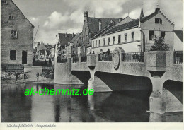 ältere Bayern AK 82256 Fürstenfeldbruck 1956  Amperbrücke - Fuerstenfeldbruck