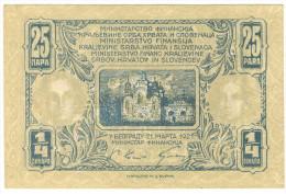 Yugoslavia 1/4 Dinara 1921 UNC - Yougoslavie