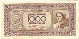 Yugoslavia 1000 Dinara 1946 - Yougoslavie