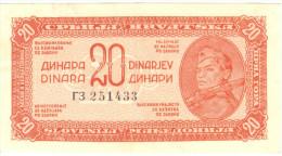 Yugoslavia 20 Dinara 1944 - Yougoslavie