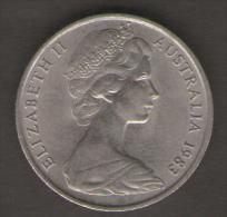 AUSTRALIA 10 CENTS 1983 - Moneta Decimale (1966-...)