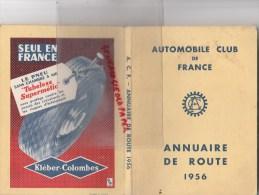 AUTOMOBILE CLUB DE FRANCE - ANNUAIRE DE ROUTE 1956- AV. KLEBER PARIS- 203-403 PEUGEOT KLEBER COLOMBES - Auto