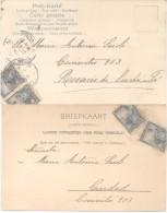 2 RARAS TARJETAS POSTALES ENVIADAS DE LOS CONSULADOS DE PERSIA Y HOLANDA EN BUENOS AIRES Y ROSARIO ARGENTINA A�O 1903
