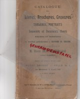 75- PARIS DROUOT-CATALOGUE LIVRES BROCHURES GRAVURES HISTOIRE THEATRE-COLLECTION HENRI BERTAUD BISSEN- 1911- ENGELMANN - Théâtre
