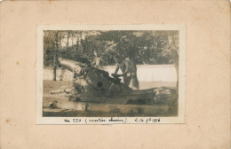 GUERRE 1914-18 - Belle Carte Photo Représentant Un Mortier Obusier 220 En 1916 - Weltkrieg 1914-18