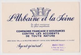 BUVARD L'URBAINE ET LA SEINE TAMPON ANDRÉ COUET NOYON OISE (60) - Banque & Assurance