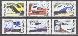 Romania 2004 Rumänien Mi 5799-5804 High-speed Trains / Hochgeschwindigkeitszüge **/MNH - Trains