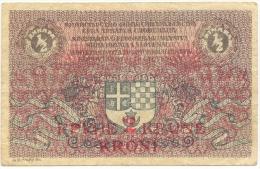 Yugoslavia 1/2 Dinara 2 Krone 1919 - Yougoslavie