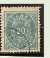 Island 1882 Mi# 14A 2ä 13 1/2 Ultramarin - Oblitérés