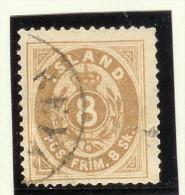 Island 1873 Mi# 4A Gestempelt Attest Tw.stumpfe Zähne - Oblitérés