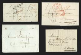 Pr�philat�lie - 8 lettres 1789 - 1836 avec marques et cachets � date LIEGE/LUIK