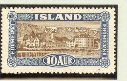Island 1925 Mi# 115 ** Postfrisch Reykjavik - 1918-1944 Administration Autonome