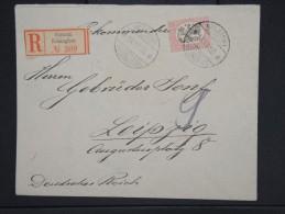 FINLANDE- Enveloppe En Recommandée De Helsinski Pour Leipzig En 1920    à Voir  P6238
