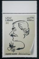Lebanon NEW 2015 MNH - Pierre Sadek - Famous Lebanese Painter & Cartonist - Lebanon