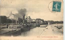 ABLON . LA CHAMPAGNE DANS L'ECLUSE . - Ablon Sur Seine