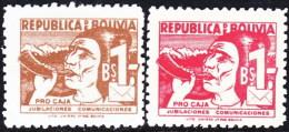 Bolivia Beneficencia 19/20 ** Pro Caja Jubilaciones. 1954 - Bolivia