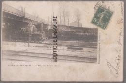 51 - VITRY LE FRANCOIS--Le Pont Du Chemin De Fer---Trains Vapeur--précurseur--R** - Vitry-le-François