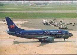 British Midland Boeing B 737-5Q8 Aircraft Aviation B 737 Airplanes B.737 - 1946-....: Era Moderna