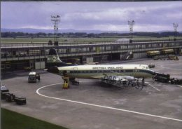 BMA British Midland Vickers Viscount 831 Aircraft Aviation AirplanesManchester Airport - 1946-....: Era Moderna