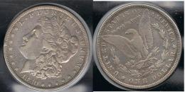 EE.UU.  USA   DOLLAR 1880  MORGAN PLATA SILVER. - 1878-1921: Morgan