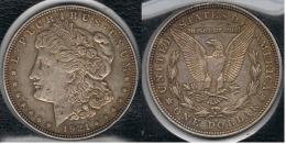 EE.UU.  USA   DOLLAR 1921 D  MORGAN PLATA SILVER..B5 - 1878-1921: Morgan