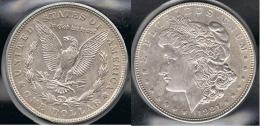 EE.UU.  USA   DOLLAR 1921 D  MORGAN PLATA SILVER. - 1878-1921: Morgan