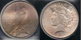 EE.UU.  USA   DOLLAR 1922  PEACE PLATA SILVER..B7 - 1921-1935: Peace