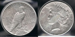 EE.UU.  USA   DOLLAR 1923  PEACE PLATA SILVER..B1 - 1921-1935: Peace